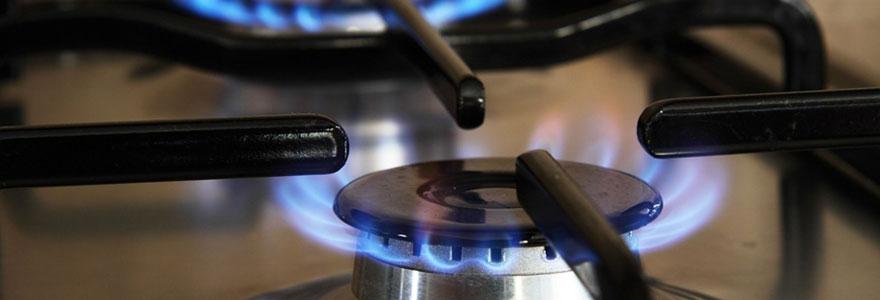 Plaque gaz en feu